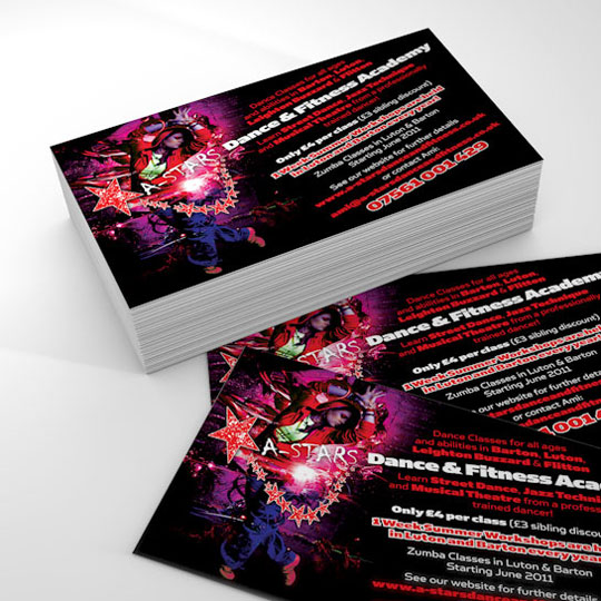 a-stars dance and fitness a6 flyer design
