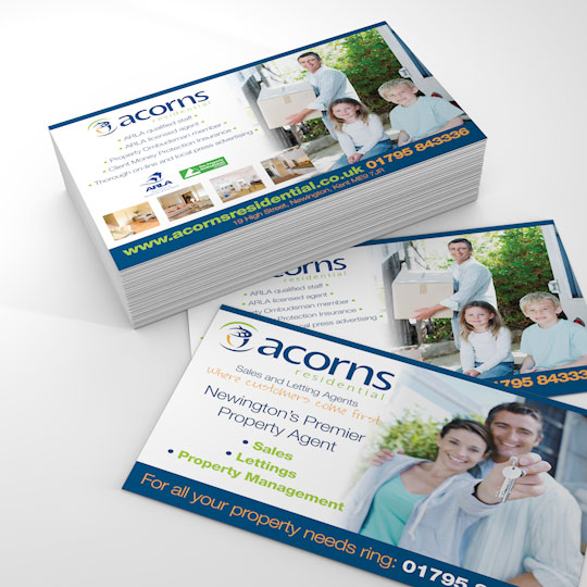 acorns residential a6 flyers