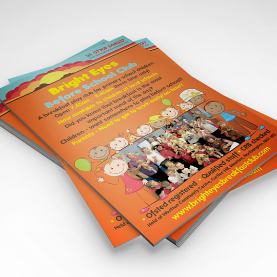 bright eyes breakfast club a5 leaflets