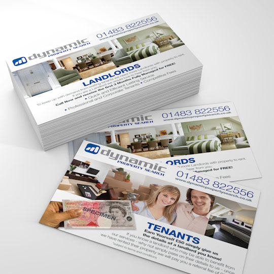 dynamic property search a6 flyer design and print