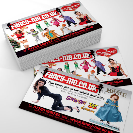 fancyme a6 flyer design and print