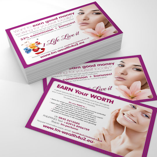 fmwealth4u2 a6 flyer design and print