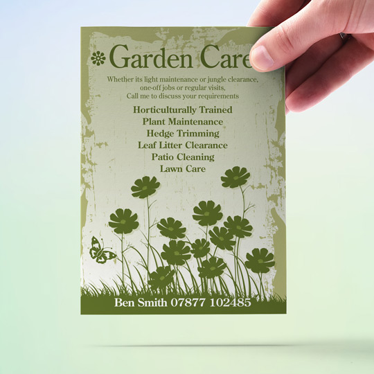 garden care a6 flyer design and print