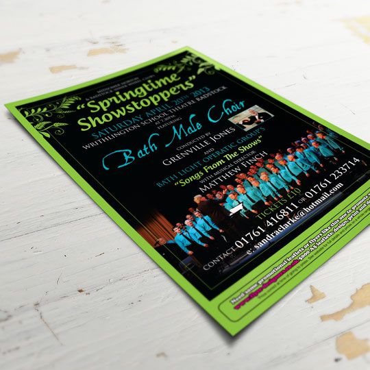 bath male choir leaflet design