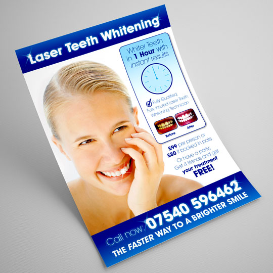 laser teeth whitening leaflets