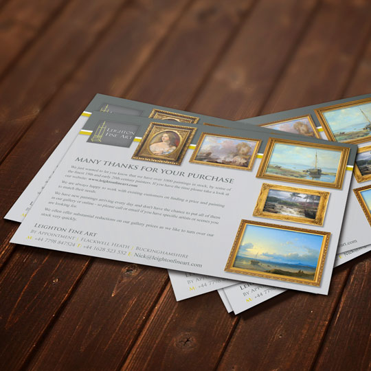 fine art sales flyers