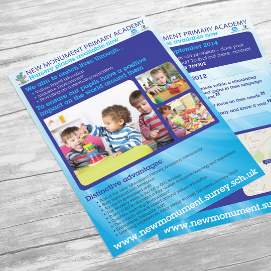 nursery school leaflets