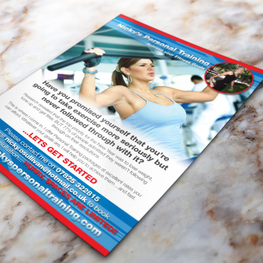 personal training leaflets