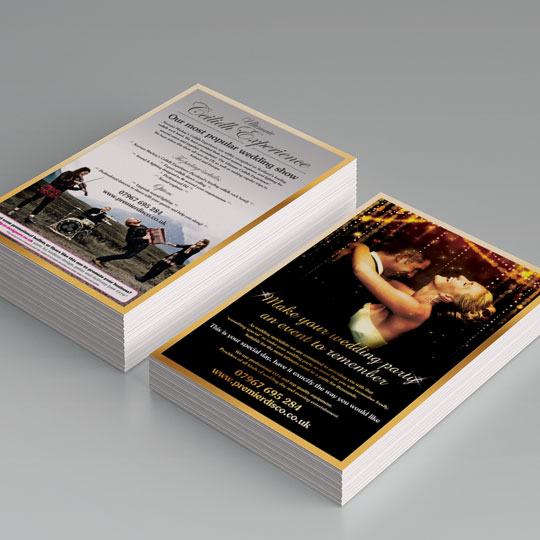 wedding party leaflets