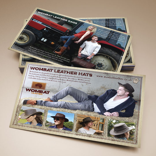 Leather goods leaflets