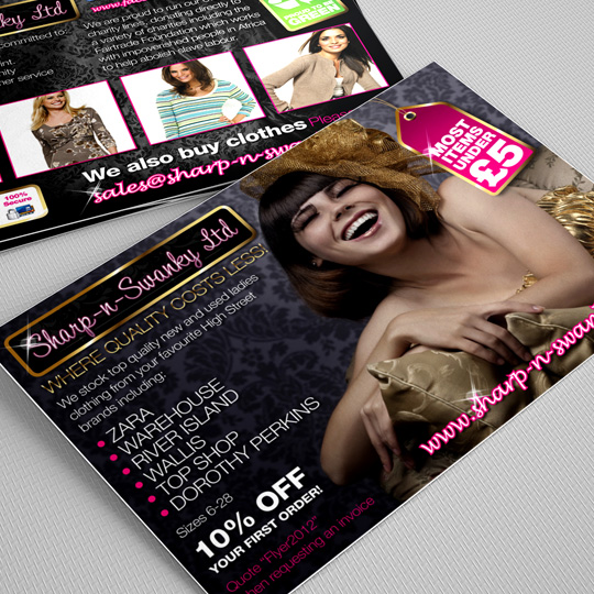 ladies clothing a6 flyers