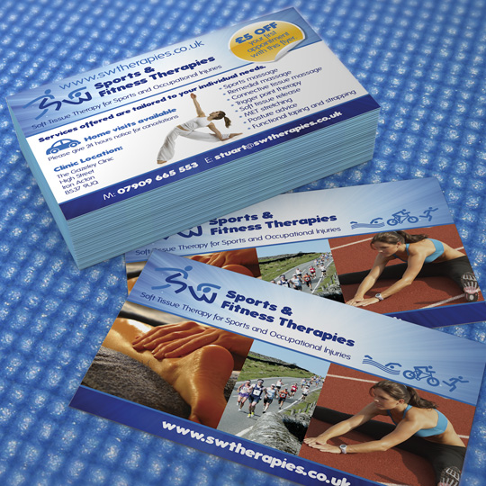 sports and fitness therapy a6 flyers